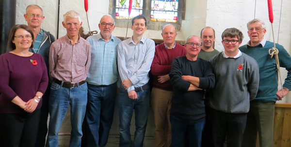 The St. Wilfred's Bell Ringing team