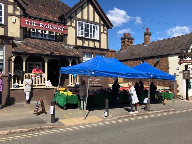 A new Fruit & Veg Market Stall outside The Railway