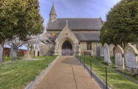 Summer News from Smeeton, picture of Christ Church, chancel roof has been renovated.
